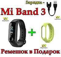Фитнес браслет Smart Bracelet Mi Band M3 Штекер зарядка Экран Цветной Фитнес-браслет M3 Умные часы