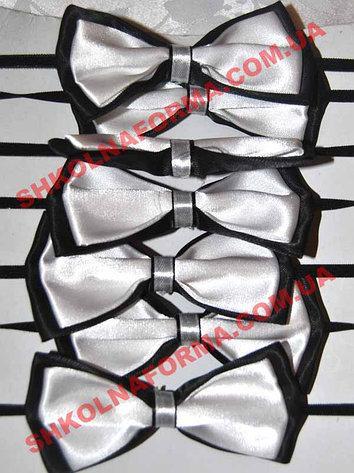 Галстуки-бабочки для мальчиков черно-белые двойные
