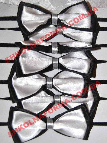 Галстуки-бабочки для мальчиков черно-белые двойные, фото 2