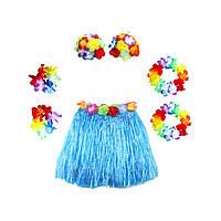 Карнавальный костюм Гавайский с короткой юбкой(40см) цвета ассорт.