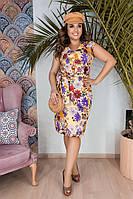 """Летнее миди-платье """"Tamsin"""" с цветочным принтом (большие размеры)"""