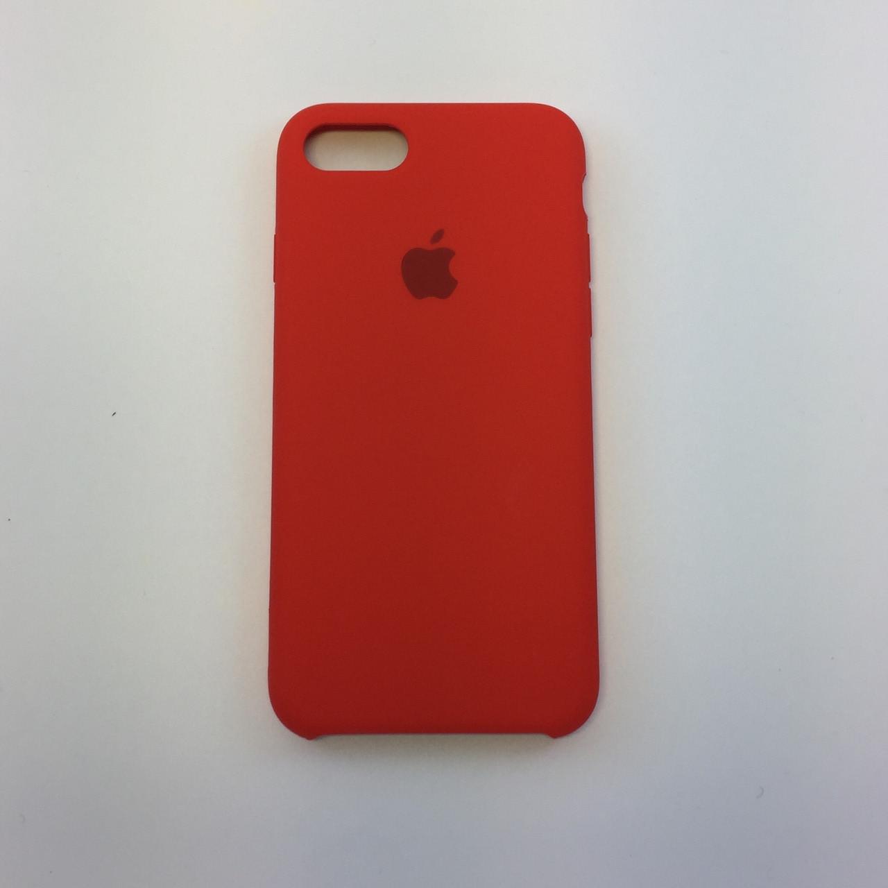 """Чехол - Silicon Case для iPhone """"Темно-терракотовый - №14"""""""