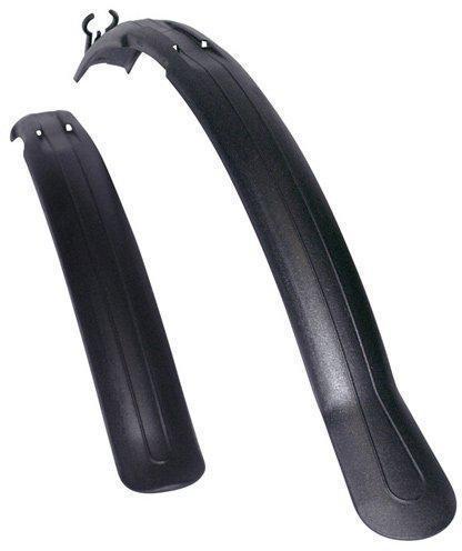 """Комплект крыльев 26""""-28"""" SIMPLA Next SDS, короткая скоба заднего крепления, черные"""