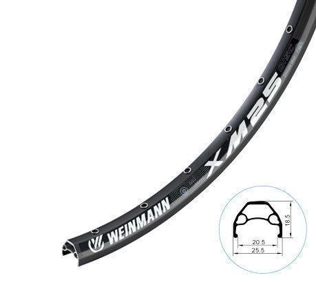"Обод 27,5"" Weinmann XM25 disc, 650B 32H A/V черн."