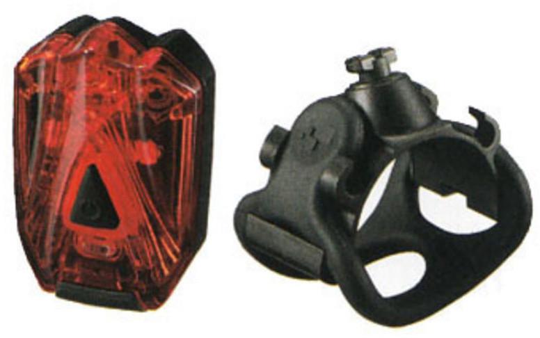 Мигалка задняя Infini LAVA  I-260R, 3 светодиода, 4 режима, USB кабель, с крепл.