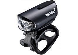 Мигалка передняя Infini I-210P-BK, 1 светодиод, 4 режима, USB кабель, аккумулятор в комплекте