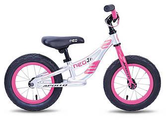 "Беговел 12"" Apollo NEO girls розовый/белый"