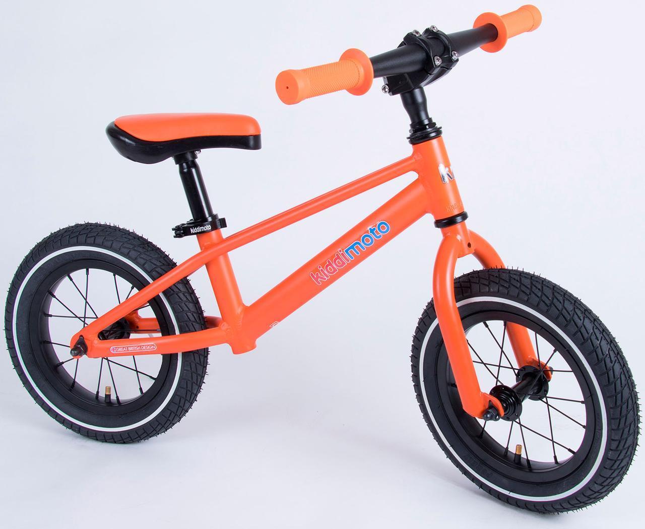 "Беговел 12"" Kiddimoto Mountain матовый оранжевый"