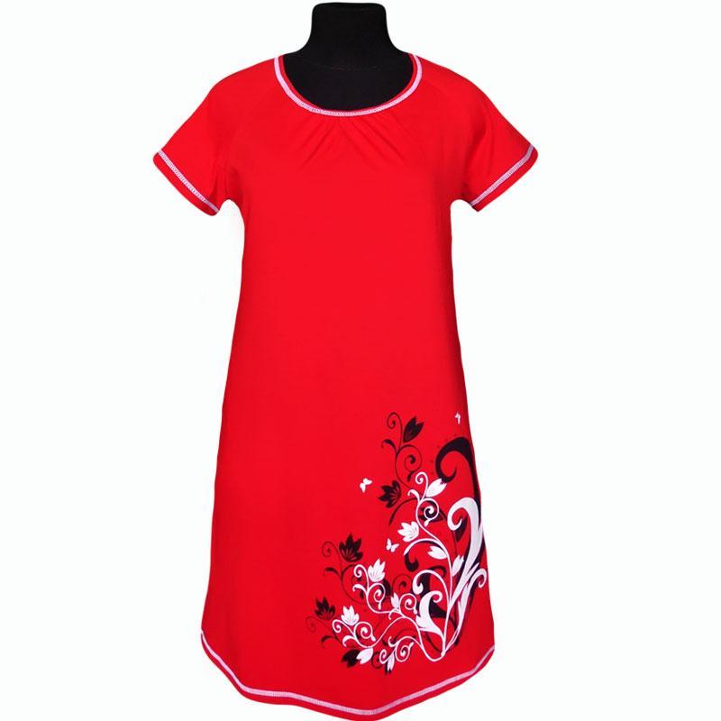 Платье с изображением цветов