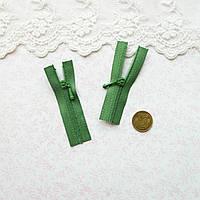 Молния микро для кукольной одежды, рюкзаков, сумок и обуви, 5 см - зеленая