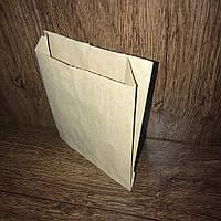 Бумажный пакет-саше 230х200х40, 40г/м2, бурый крафт, 100шт/уп