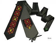"""Атласный галстук с вышивкой """"Воля"""", фото 1"""