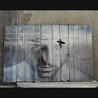 Картины на дереве и досках под заказ в стиле лофт, поп-арт или с вашим фото 150х100см - 3000грн.