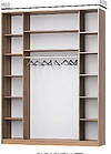 Шафа-купе з художнім матуванням на дзеркалах, фото 3