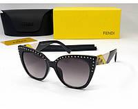 Женские модные солнцезащитные очки Fendi (05) black, фото 1