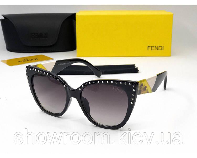 Женские модные солнцезащитные очки Fendi (05) black