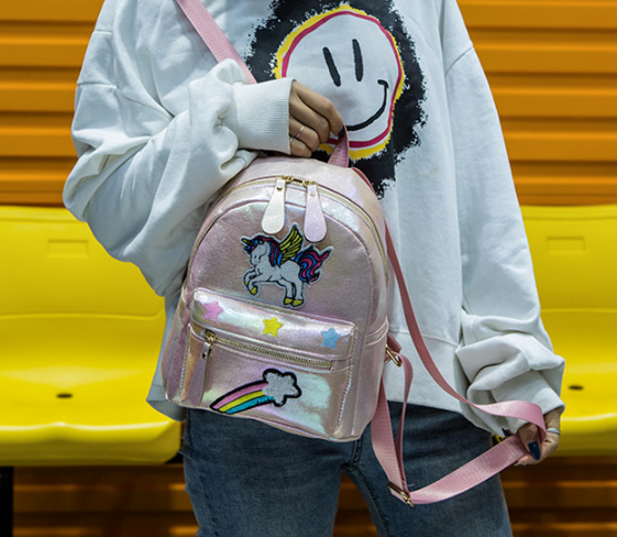 Рюкзак Единорог светло-розовый