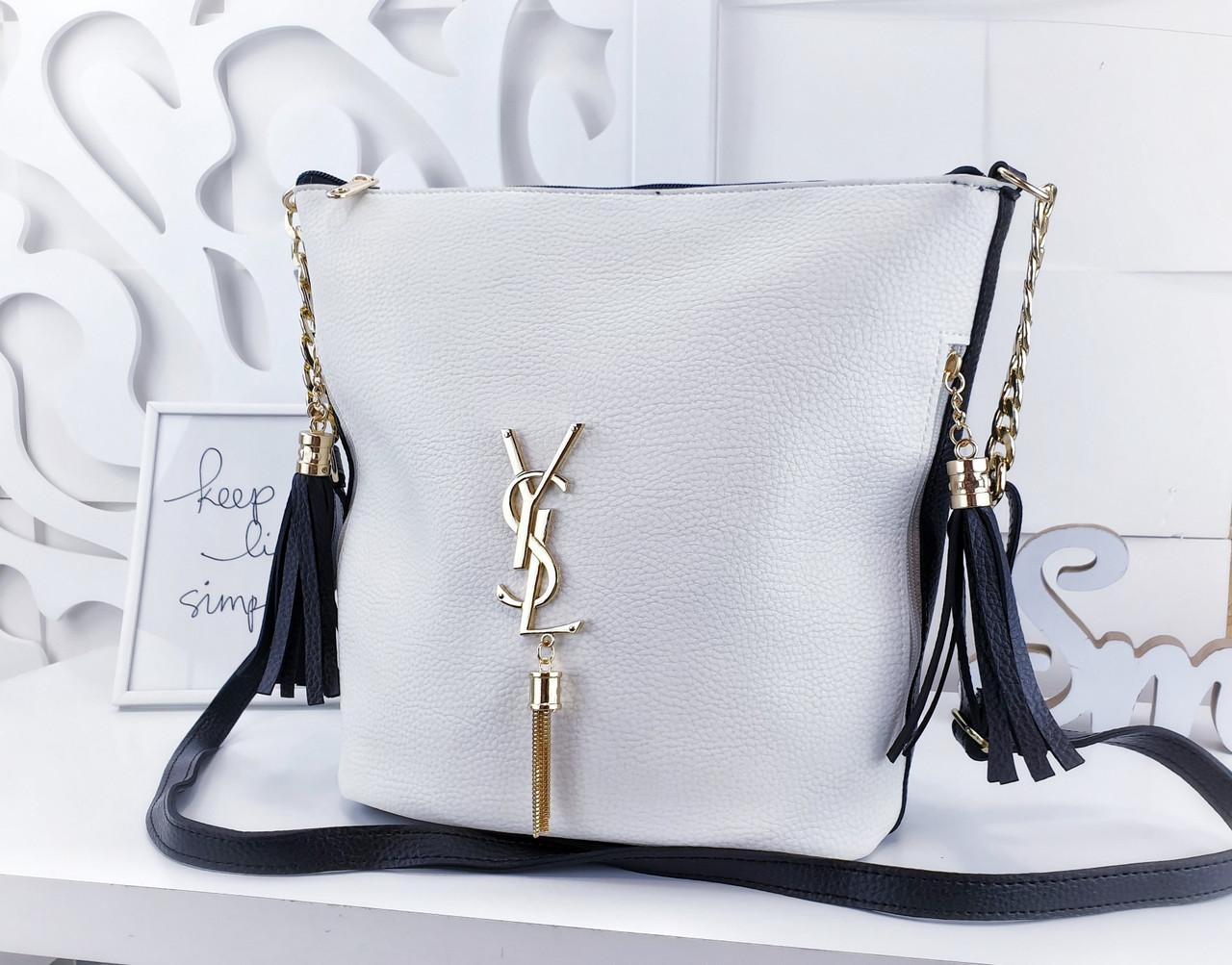 Фирменная женская сумка в стиле Ив Сев Лоран