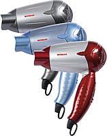 Фен маленький складной (дорожный) серебристый Vitalex VT-4001 для сушки волос фен