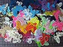 Набір вирубування з паперу та картону. Метелики, 50 штук, 30х45 мм