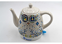 Керамический чайник Domotec MS-5053 (1.5 л / 1500 Вт) с принтом мозаики, фото 1
