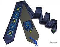 """Атласный галстук с вышивкой """"Силолюб"""", фото 1"""