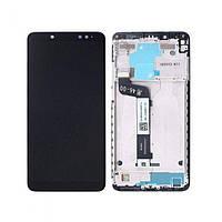 Дисплей Xiaomi Redmi Note 5 Redmi Note 5 Pro с тачскрином и рамкой черный Оригинал