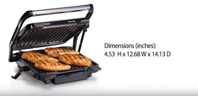 Гриль сендвичница и барбекю Hamilton Beach SAU-25451 2000 Вт электрическая 2 в 1