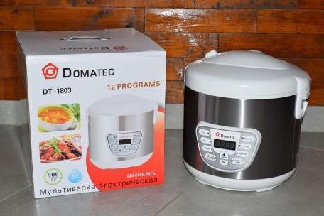 Мультиварка Domotec 6л. DT-1803 900 Вт тефлоновое покрытие кухонная электрическая