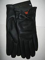 Перчатки женские из коже заменителя утепленные