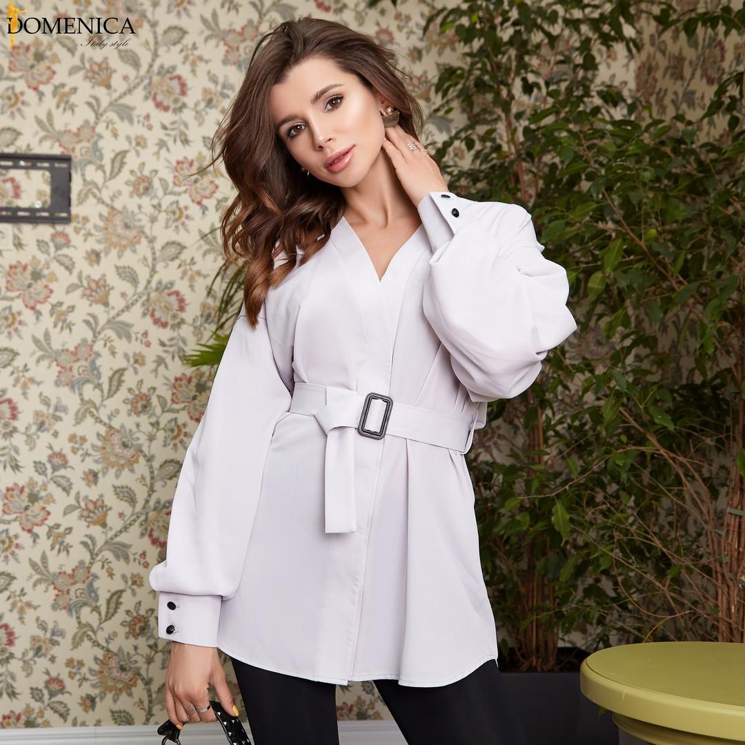 Современная блуза, выполненная из софта.  Размер: С,М . Разные цвета (Р 2465)