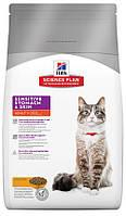 Корм для чувствительных кошек Hills Feline Adult Sensitive Stomach and Skin