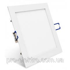 Стельовий вбудований світлодіодний світильник LED 12W квадрат 3000К ZL2005124 Z-Light