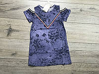 Трикотажное платье под джинс. 4- 8 лет.