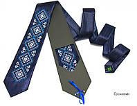 Атласный галстук с вышивкой для мужчин «Громовык»