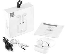 Безпровідні навушники USAMS BHULC01 Wireless Bluetooth з докстанцією Білі, фото 3