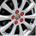Силиконовые матовые колпачки на колесные болты 17 мм, Красный