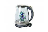 Электрический чайник RAINBERG RB 998 стеклянный чайник, фото 1