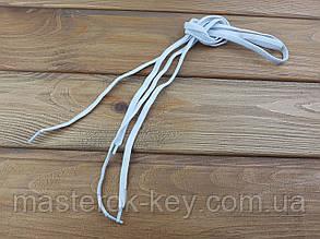 Шнурки резиновые обувные плоские 100см цвет белый