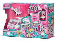 Ігровий набір Госпіталь L. O. L. ЛОЛ QL 049-1 з вертольотом і швидкої