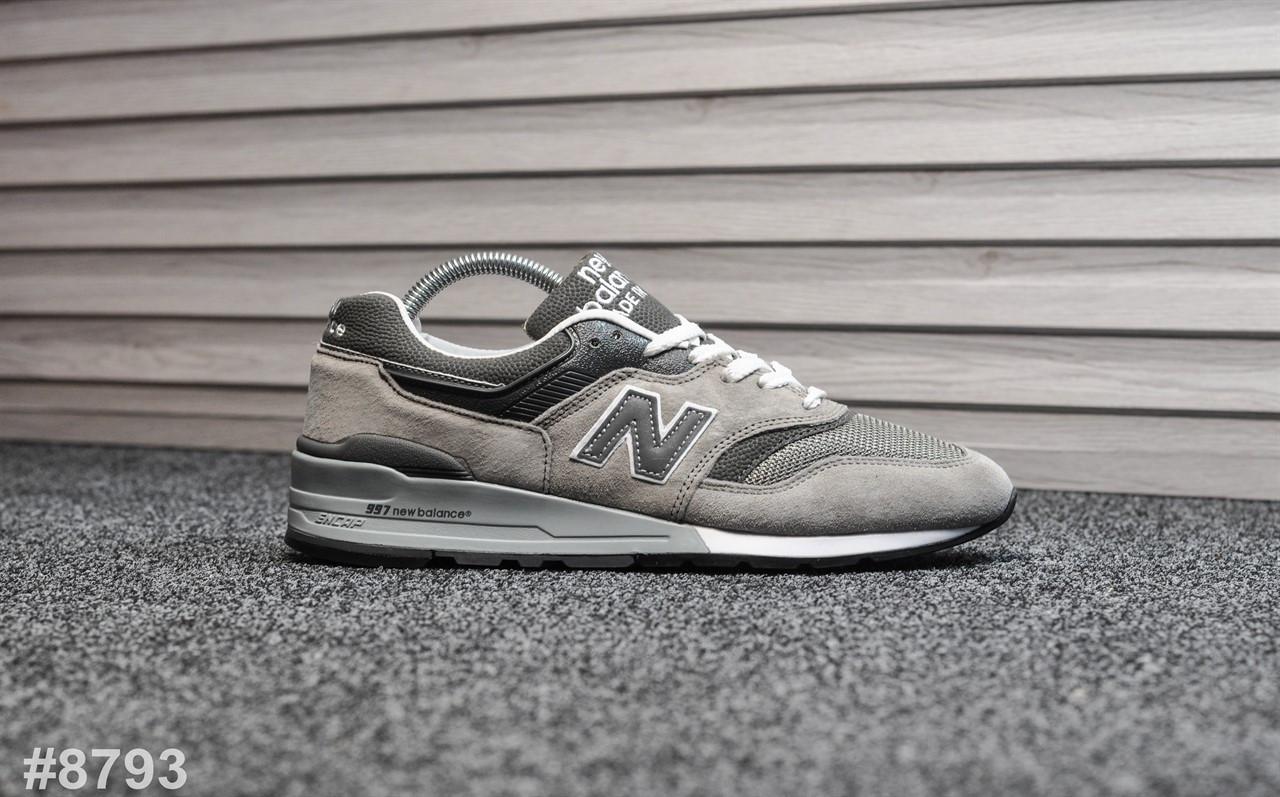 Мужские кроссовки New Balance 997 Gray, Реплика