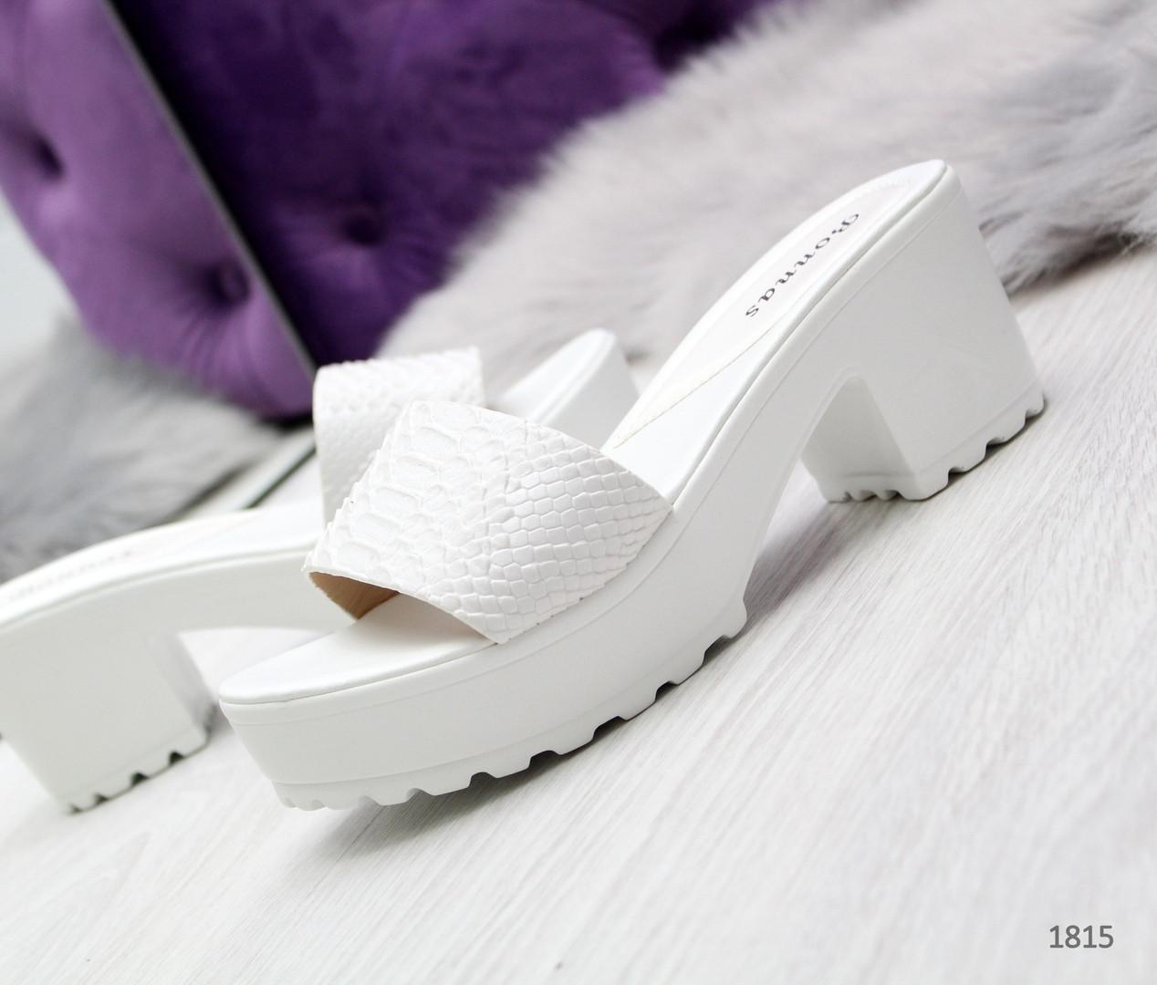 4aa63e91a Женские белые шлепки на каблуке 38 р-р: продажа, цена в Одессе ...