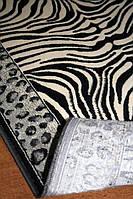 Бельгийский вискозный ковер с рисунком под зебру и леопарда, фото 1