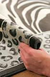 Бельгійський віскозний килим з малюнком під зебру і леопарда, фото 4