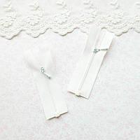 Молния мини  РАЗЪЕМНАЯ для кукольной одежды, рюкзаков, сумок и обуви, 7.5 см - белая