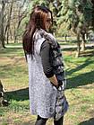 Жилетка 90 см Кашемир С Мехом Песца Пепел 043КЛ, фото 7