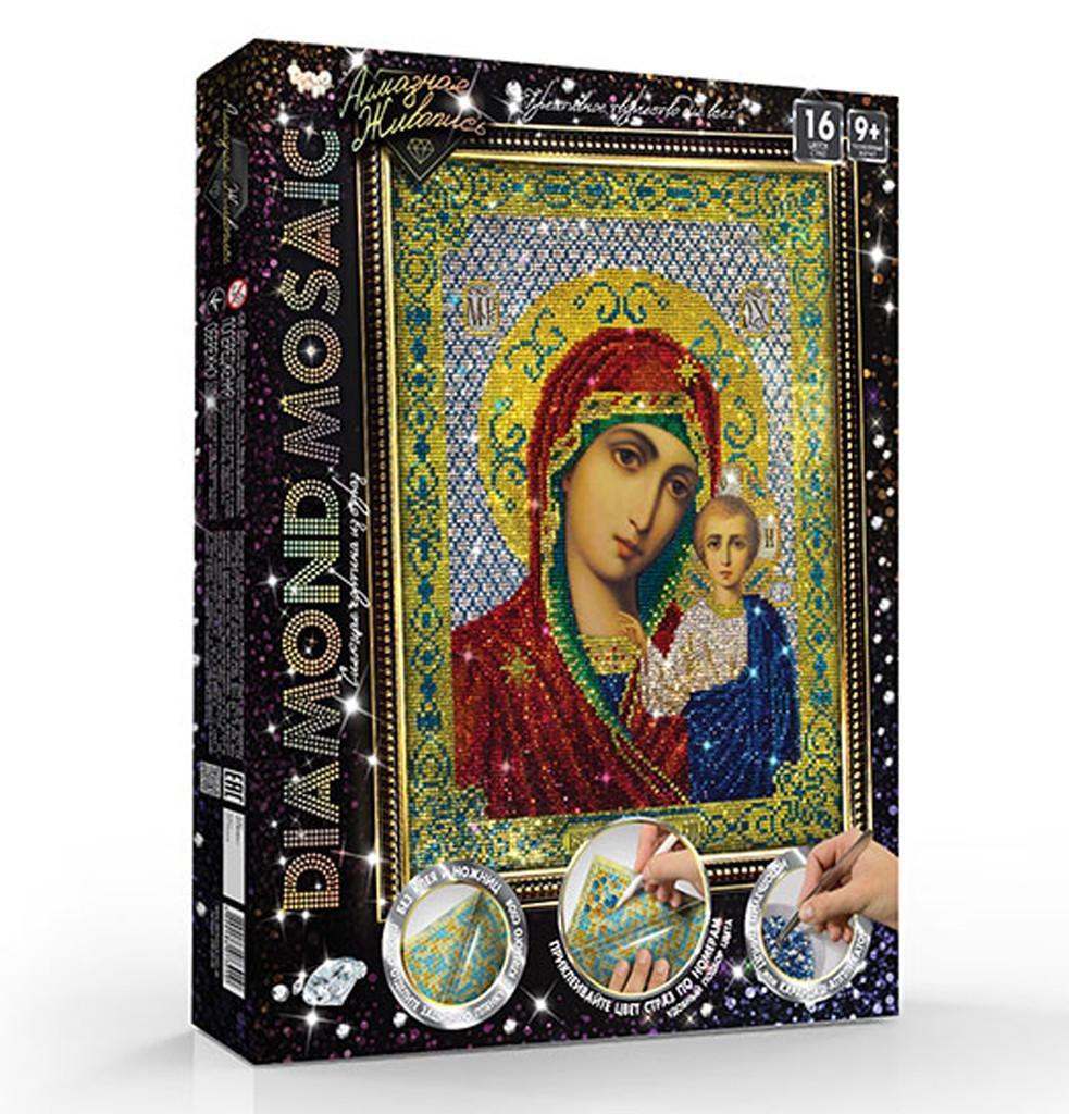 """Алмазная вышивка икона Diamond mosaic, """"Божья матерь"""""""