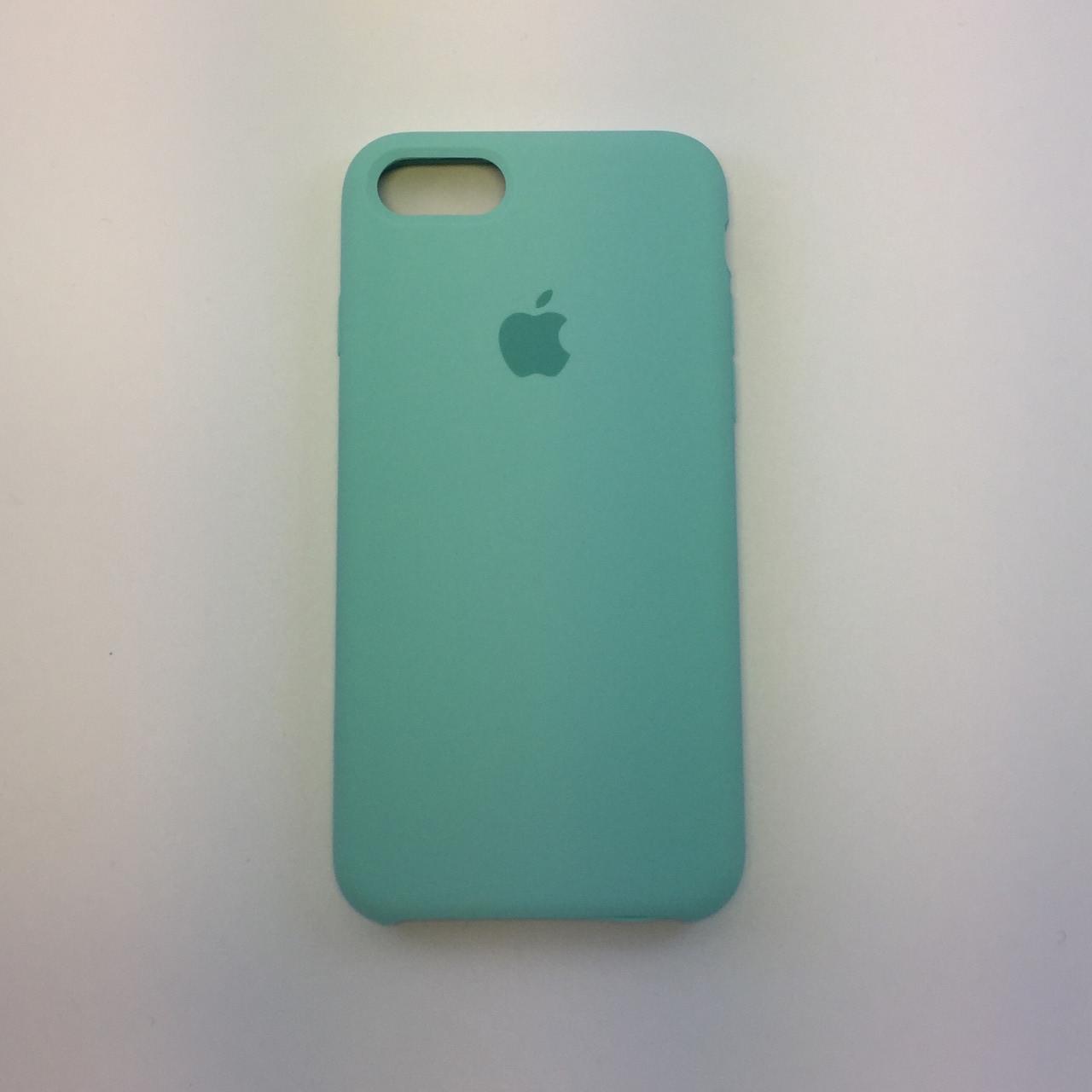 "Чехол - Silicon Case для iPhone ""Зеленая лагуна - №21"" - copy orig."