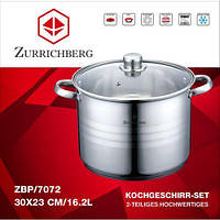 Кастрюля Zurrichberg DELUXE ZBP 7072 нержавейка 16.2 л большая кухонная кастрюля
