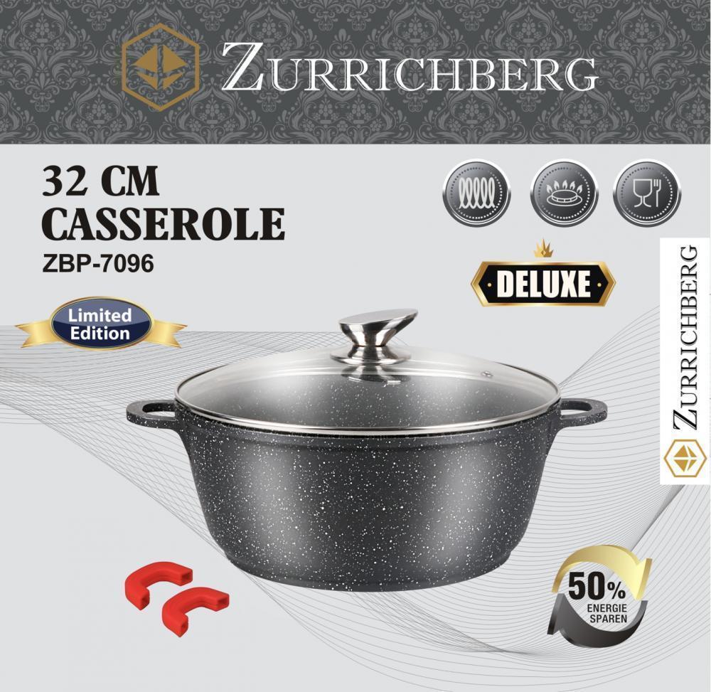 Кастрюля ZURRICHBERG ZBP 7096 Deluxe 32 × 14 см с крышкой премиум класса
